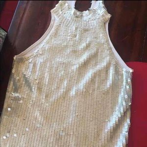Sequined high neck blouse size xs
